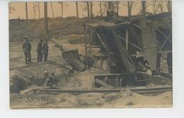 GUERRE 1914-18 - CHUIGNES - Belle Carte Photo Canon Allemand BERTHA Détruit - Carte écrite à BRAY (SOMME ) En 1917 - Guerre 1914-18