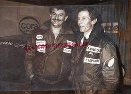 87-LIMOGES-CLAUDE TRIMOLET -ROBERT RAVON- DEPART PARIS RALLYE MONTE CARLO-AFFLELOU-LAPLAUD CORA   RARE PHOTO ORIGINALE - Persone Identificate