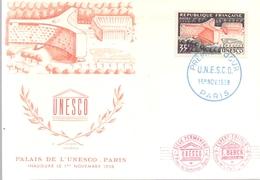 FRANCE UNESCO  PALAIS 1958 POST CARD (MAGG19119) - UNESCO