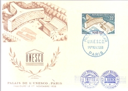 FRANCE UNESCO  PALAIS 1958 POST CARD PARIS  (MAGG19120) - UNESCO