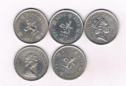 5 X 1 DOLLAR HONGKONG/4294/ - Hong Kong