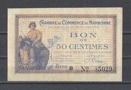 Chambre De Commerce De NARBONNE  Billet De 50c - Cámara De Comercio