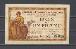 Chambre De Commerce De NARBONNE  Billet De 1.00F - Cámara De Comercio