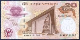 PAPUA NEW GUINEA 20 KINA P-36 COMMEMORATIVE 35th Anniversary Bank Of Papua New Guinea 2008 UNC - Papua Nuova Guinea