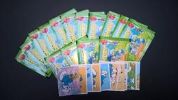 Lot De 15 Pochettes +10 Vignettes Individuelles Panini Schtroumpf -Smurf - Fiches Illustrées