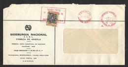 Angola Portugal EMA Cachet Rouge Luanda Centenaire Du Timbre Timbre Taxe 1970 Franking Meter Stamp Centennial Postal Tax - Angola