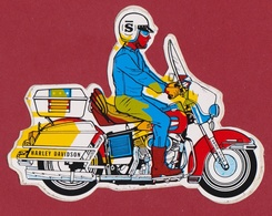 Sticker Autocollant Moto Rider Riders Harley Davidson SAMO CHIPS Reclame Advertisement  Aufkleber Adesivo - Aufkleber