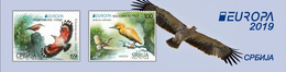 Serbia 2019 Europa CEPT National Birds Fauna Wallcreeper Squacco Heron Booklet B With 2 Sets And Labels MNH - Serbia