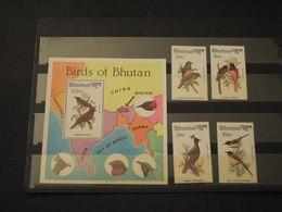 BHUTAN - 1982 UCCELLI 4 VALORI + BF - NUOVI(++) - Bhutan