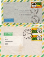 Postal History Cover: Brazil Stamps On 2 Covers - Agriculture