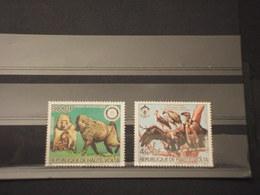 HAUTE VOLTA - 1984 P.A. ANIMALI 2 VALORI - NUOVI(++) - Alto Volta (1958-1984)