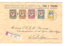 PR6507/ Grand Duché Luxembourg TP Caritas 1928 S/L.recommandée C.Luxembourg-Ville V.Arlon - Marcophilie - EMA (Empreintes Machines)