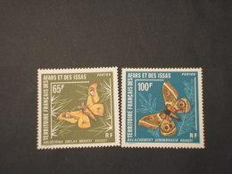 AFAR ISSAS - 1976 FARFALLE 2 VALORI  - NUOVI(++) - Afars E Issas (1967-1977)