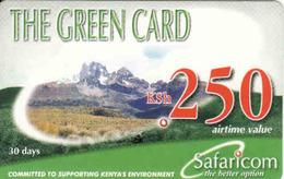 Kenya, Green Card 250, Safaricom - Kenya