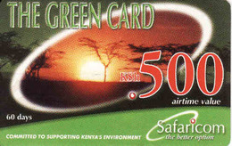 Kenya, Green Card 500, Safaricom - Kenya