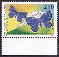 ANDORRE  1993 -  YT  432 - Protection De La Nature - Papillon - NEUF**   Bas  De Feuille - Cote 1.60e - Andorre Français
