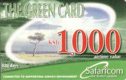 Kenya, Green Card 1000, Safaricom - Kenya