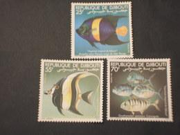 DJIBOUTI - 1981 PESCI 3 VALORI  - NUOVI(++) - Gibuti (1977-...)
