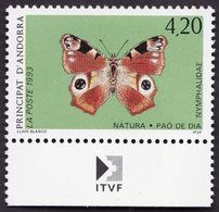 ANDORRE  1993 -  YT  433 - Protection De La Nature  Papillon - NEUF**   Bas  De Feuille - Cote 2.60e - Andorre Français