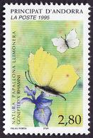 ANDORRE  1995 -  YT 462  - Papillon -  Gonepteryx Rhamni -  NEUF**   - Cote  1.90e - Andorre Français