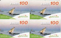 Kenya, 4 X Bamba Mini Cards 100, Safaricom - Kenya