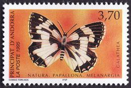 ANDORRE  1995 -  YT 463  - Papillon -  Melanargia Galathea -  NEUF**   - Cote  2.40e - Andorre Français