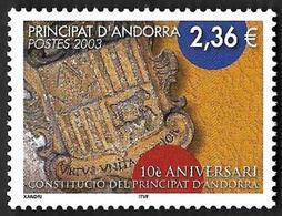 ANDORRE  2003 -  YT 577 -  Constitution - NEUF**  - Cote  9.20e - Andorre Français