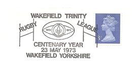 1973 Centenaire Du Club De Wakefield ,Rugby League - Rugby