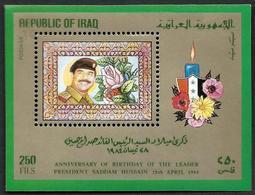 IRAQ  1984 -  BF 36 - Anniversaire De Sadam Hussein   -  Mi Bloc  38 -  NEUF** - Iraq