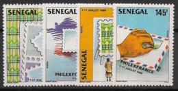 Sénégal - 1989 - N°Yv. 800 à 803 - Philexfrance 89 - Neuf Luxe ** / MNH / Postfrisch - Senegal (1960-...)