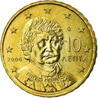 Grèce, 10 Euro Cent, 2006, TTB, Laiton, KM:184 - Grèce
