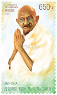Armenia Arménie Armenien 2019 150th Anniversary Of Mahatma Gandhi Leader Of India Father Of The Nation MNH** - Armenia