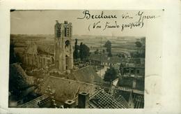 Ieper à ( Proximité) ZONNEBECKE BECELARE Carte-photo Glacée Rare Postée En 1916 (ruines De L'église Et Du Secteur) - Ieper