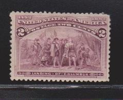 USA Scott # 231 MH - Landing Of Columbus - 1847-99 General Issues