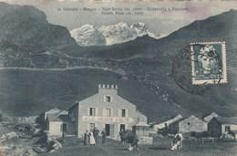 ALAGNA-VERCELLI-RISTORANTE E PENSIONE=A LA GRANDE HALTE=-CARTOLINA VIAGGIATA IL 12-11-1930 - Vercelli