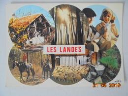 Les Landes. La Foret, Le Folklore, L'habitat Landais. Mopy M2341 Postmarked 1986. - France