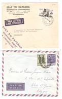 PR6510/ Katanga 4 Lettres Dont 2 Etat Du Katanga Par Avion ElisabethvilleéJadotville 1961 V.Belgique - Katanga