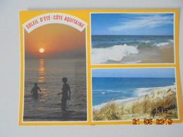 Visage Des Landes. Cote Aquitaine. Immenses Plages De Sable Fin. Vignes Postmarked 1990 - France