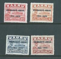 Nauru 1935 KGV Silver Jubilee Overprints Set Of 4 MNH / Mint - Nauru