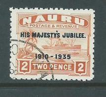 Nauru 1935 KGV Silver Jubilee Overprints 2d Orange FU - Nauru