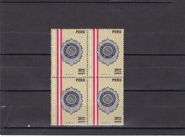 Peru Nº A424 En Bloque De Cuatro - Peru