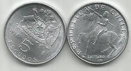 Chile 5 Escudos 1972. Al - Chili