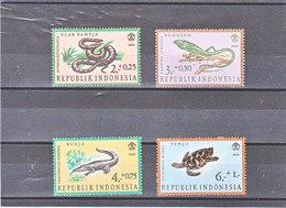 INDONESIE 1966 ANIMAUX REPTILES Yvert 494-497 NEUF** MNH - Indonesia