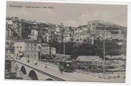 CARD VENTIMIGLIA PONTE FIUME ROIA CITTA' VECCHIA TRAM N.5   PUB.FERNET VITTONE BITTER CAMPARI(IMPERIA)-FP-N-2-0882-29005 - Imperia