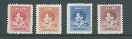 Nauru 1937 KGVI Coronation Set 4 Fine Mint - Nauru