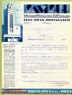 """ORAN - MOSTAGANEM (1937) : """" VINS Maison SAVIGNON - SAVISUP """" - France"""