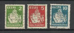 ESTLAND Estonia 1933 Michel 99 - 101 O - Estland