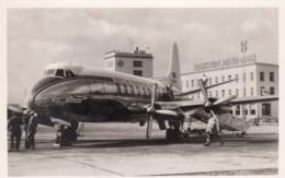 British European Airways Propeller Plane On Tarmac Frankfurt Rhein-Main Airport C1950s Vintage Postcard - 1946-....: Era Moderna