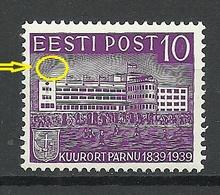 Estonia Estland 1939 Michel 149 ERROR Variety Abart MNH - Estonia