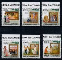 ISOLE  COMORE     IMPRESSIONISTI      CHILDE  HASSAM        2009  MNH**                  (VIAGGIATA) - Isole Comore (1975-...)